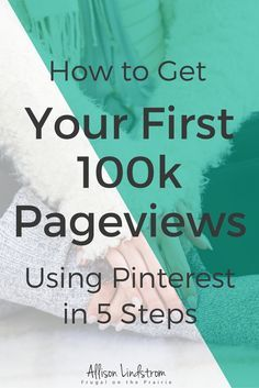 """Not sure how to increase your website's traffic using Pinterest? I'm hosting a webinar on """"How to Get Your First 100k Pageviews Using Pinterest in 5 Steps!"""""""