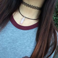 Quartz crystal choker necklace by pacificcali on Etsy