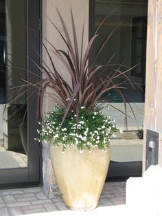 Potted Plant Idea I like that it's simple.