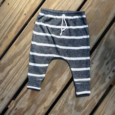Gray stripe harems boys pants gender neutral by sweetwhitepeony2