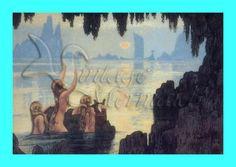 s19 QUILT MERMAID FABRIC Vintage Mermaid by wwwvintagemermaidcom, $7.00