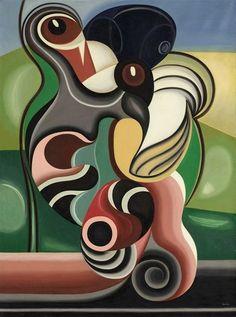 """ymutate: """"Auguste Herbin (French, 1882-1960) Volutes """""""