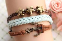 Starfish, Anchor Bracelets