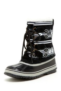 Sorel 1964 Graphic Winter Boot SUCH A CUTE BOOT!!! If only I I could get my hands on these so many things i could pair them with! #SORELfestivalstyle