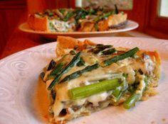Cheesy Asparagus and Mushroom Quiche (Via La Vernia News)