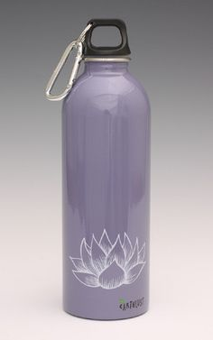 Earthlust L Purple Lotus Bottle Homeschool Supplies, Stainless Water Bottle, Modern Nursery Decor, Cool Mom Picks, White Lotus, All Things Purple, Travel With Kids, Best Mom, Cool Gifts