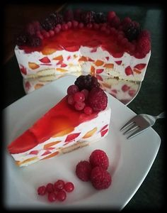 Yogurt Cake, Yummy Food, Yummy Recipes, Cheesecake, Food And Drink, Strawberry, Pudding, Meals, Cookies