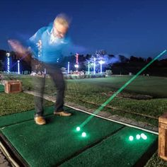 Bright glowing LED golf balls! Golf Flag, Color Mixing, Light Up, Balls, Glow, Bright, Activities, Fun, Lol