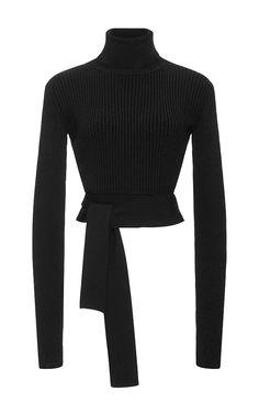 Knit Turtleneck With Back Tie Cutout by CUSHNIE ET OCHS Now Available on Moda Operandi