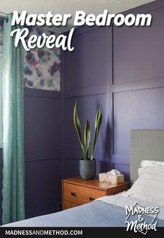 This bold and bright space is a lot different than where it started!  Check out the photos (and video) from this master bedroom reveal for the Spring ORC. Kids Bedroom, Bedroom Decor, Garage Makeover, Master Bedroom Makeover, Budget Bathroom, Plank Flooring, Nursery Neutral, Guest Bedrooms, My Favorite Color