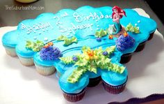 Little Mermaid Ariel Birthday Cupcake Cake