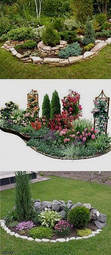 50 New Front Yard Landscaping Design Ideas Gorgeous and Pretty Front Yard Garden and Landscaping Ideas Small Front Yard Landscaping, Outdoor Landscaping, Outdoor Gardens, Corner Landscaping Ideas, Backyard Ideas, Acreage Landscaping, Inexpensive Landscaping, Landscaping Edging, Yard Design
