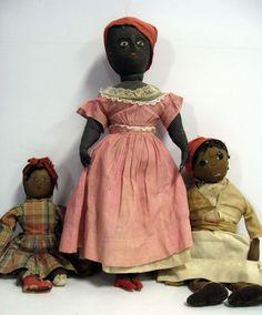 Three Black dolls, 21'' Brazilian with nails, 19'' Mamm  www.liveauctionee...
