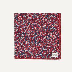 Floral Print Pocket Square in Rose | $20 |  Frank  Oak