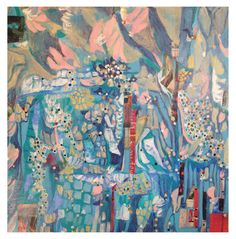 Saatchi Online Artist: Kristen Neveu; Paint, 2013, Mixed Media Clouds of Wishful Forgetting - Mixed Media Painting