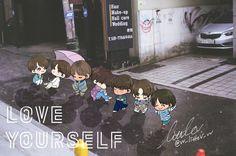 Awwww❤ BTS #LOVE_YOURSELF @vv_littleV_vv