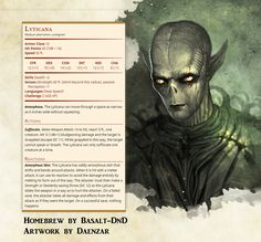 Image result for gith 5e stat block