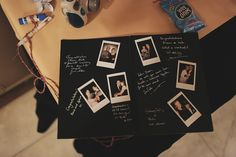 I do love photos.  Polaroids in a guest book - even better!