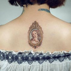 Framed Venus tattoo inspired by Sandro Botticelli's 'The Birth of Venus'. Tattoo artist: Sol Tattoo
