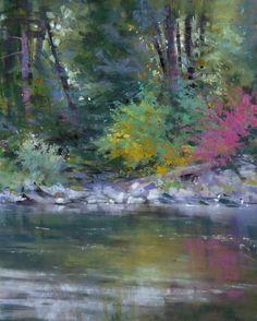 """""""Wenatchee Riverbank"""" original fine art by Barbara Benedetti Newton"""