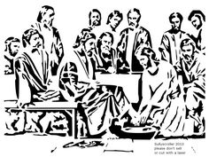 Jesus washes feet - Religious - User Gallery - Scroll Saw Village