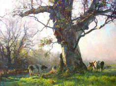 """Painting by John McCartin - """"Winter Morning Kangarilla"""" Classic Paintings, Paintings I Love, Beautiful Paintings, Australian Painters, Australian Artists, Landscape Art, Landscape Paintings, Pintura Exterior, Painting Competition"""