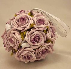 Lilac Rose Pomander Ball lilac rose, balls, bridal bouquets, wedding designs, white roses, wedding bouquets, weddings, wedding flowers, pomand ball