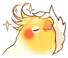 Coca Bird by ErA sticker Cute Animal Drawings, Bird Drawings, Kawaii Drawings, Cute Drawings, Cute Kawaii Animals, Cute Funny Animals, Funny Birds, Cute Birds, Desu Desu
