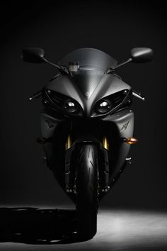 Masculine Dark Motorcycle 2012 Yamaha YZF R1...sexist comment..a real WOMAN could handle this bike.