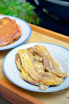 Boczek z grilla - zobacz prosty przepis na marynatę - sprawdź! Tzatziki, Grilling, Pork, Food And Drink, Cooking Recipes, Chicken, Meat, Kale Stir Fry, Crickets