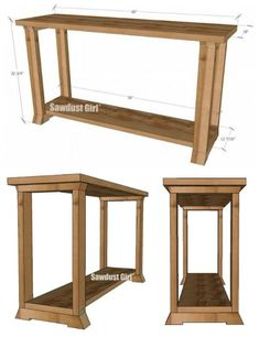 sofa table plans. Console Table Woodworking Plans Sofa