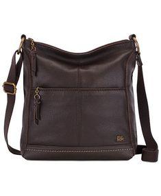 The Sak Lucia Leather Crossbody - Cocoa/Gold Large Crossbody Bags, Crossbody Shoulder Bag, Leather Crossbody, Leather Bag, Small Sized Bags, Utility Tote, Fashion Handbags, Fashion Purses, Stitching Leather