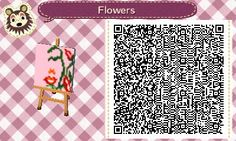 Flower Paint - Art - QR - Picture - Animal Crossing New Leaf - ACNL - Broesel