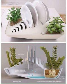 Secador de platos ecologico