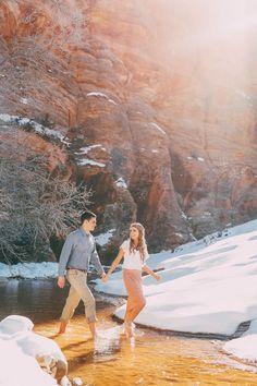 Utah Wedding Photographer | Winter Zion National Park Engagement {Braden Sara} | http://www.gideonphoto.com/blog » portrait » girl » lady » boy » bro » guy » lady » woman » photography » session » lights » photo » instagram worthy » bro » dude » wassup man » pins for pins » pinterest » style » fashion » adventure » tones » shading » lighting » family »
