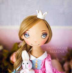 bonecos colecionáveis artesanal.  Mestres justas - artesanal.  Comprar Agatha Princesa com outro têxtil, boneca interior como um presente.  Handmade.