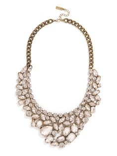 Crystal statement necklace   we ❤ this!  moncheribridals.com  #weddingnecklace #weddingstatementnecklace