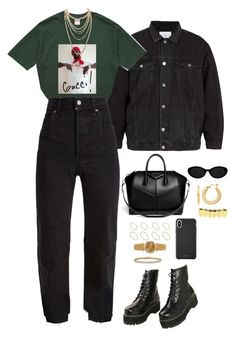 """""""Untitled #4687"""" by mollface ❤ liked on Polyvore featuring Raey, Gucci, Vetements, Van Cleef & Arpels, BillyTheTree, ASOS, Charlotte Russe and Givenchy"""