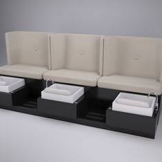 Pure, clean and extra-quiet, the First Class Pedicure Bench with modern wing back styling for privacy is comfortable, ergonomic and includes our Purjet pipe-less reflexology foot bath to stimulate key points on the feet.