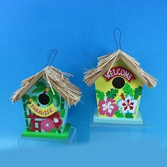 712 Tropical Tiki Hut Birdhouse 2 Piece ** This is an Amazon Associate's Pin. Details on product can be viewed on Amazon website by clicking the VISIT button.