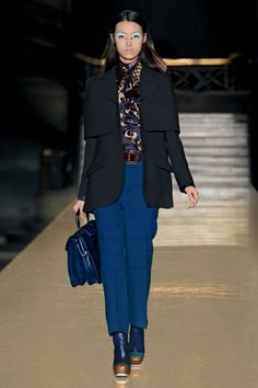 Miu Miu Fall/Winter collection. Black and blue all over...