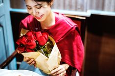 Buy Woman got red rose bouquet by Rawpixel on PhotoDune. Woman got red rose bouquet Japanese Love, Red Rose Bouquet, Date Dinner, Romantic Roses, Romantic Dinners, Happy Women, Female Images, Red Roses, Anniversary