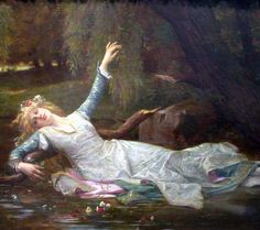 Ophelia Walks Away // a blog about the women in Shakespeare: the characters, the stories, and the lives of women in Shakespeare's time and today. // #welcome #blog #shakespeare #women #character #analysis #theatre #play #ophelia #river #flower #feminism