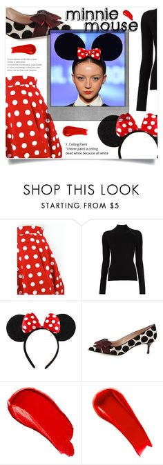 """Minnie Mouse"" by ifip on Polyvore featuring Misha Nonoo, Disney, Manolo Blahnik, Polaroid, Burberry and NARS Cosmetics"