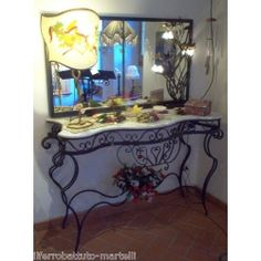 Wrought Iron Consolle Furniture. Customize Realizations. 322 Wrought Iron, Entryway Tables, Painting, Console, Furniture, Ebay, Home Decor, Decoration Home, Room Decor
