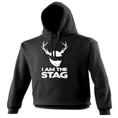 123t USA I Am The Stag Funny Hoodie