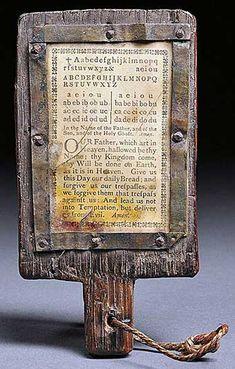 Colonial Sense: Antiques: Hornbook