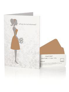 PANTONE WEDDING™ Will You Be My Bridesmaid Card - butterscotch  #bridesmaidcards #weddings #tan