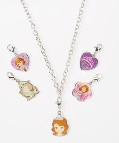 Look at this #zulilyfind! Sofia the First Necklace & Charms Set by Sofia the First #zulilyfinds