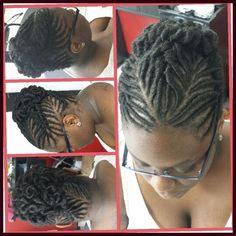 Wedding hairstyle.. stuffed twist updo